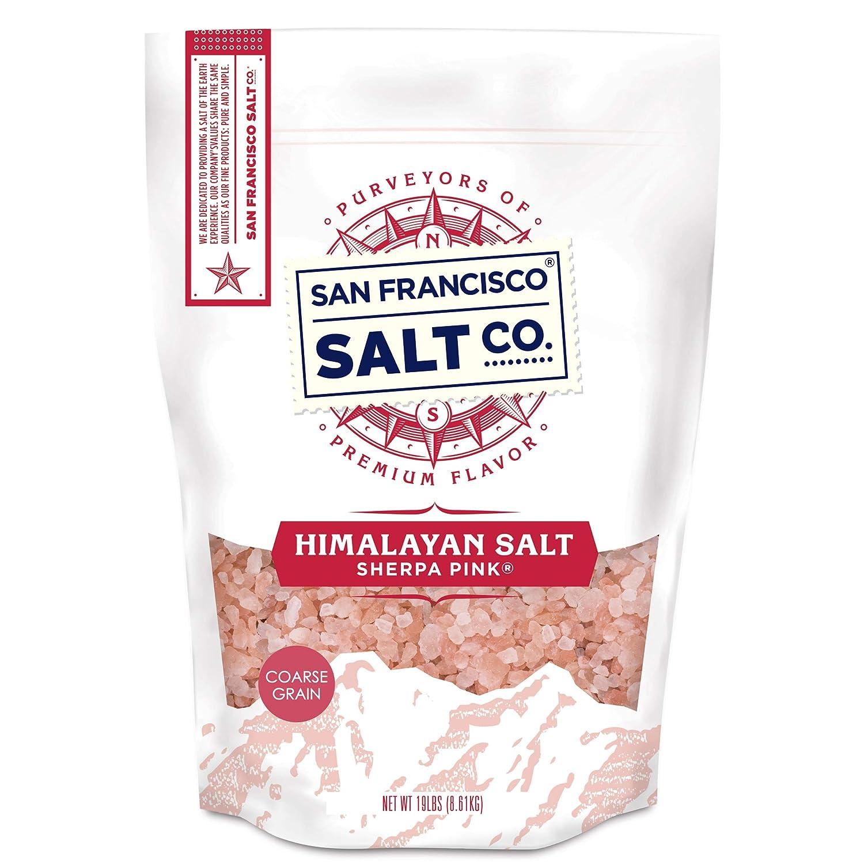 Sherpa Pink Himalayan Salt -19 lb. Bulk Bag Coarse Grain - for Grinders and Salt Mills