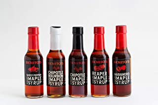 product image for Benito's Chili Pepper Infused Vermont Maple Syrup (Assorted, 5 Bottles)