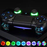 eXtremeRate 10 Colors Modes 7 Areas DIY Option Multi-Colors Luminated D-pad Thumbstick L1 R1 R2 L2 Home Face Buttons…