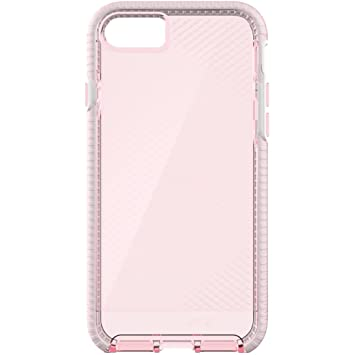 los angeles 3c4cc 2d5ae Tech 21 T21-5331 Evo Check Case with FlexShock for Apple iPhone 7 - Light  Rose/White