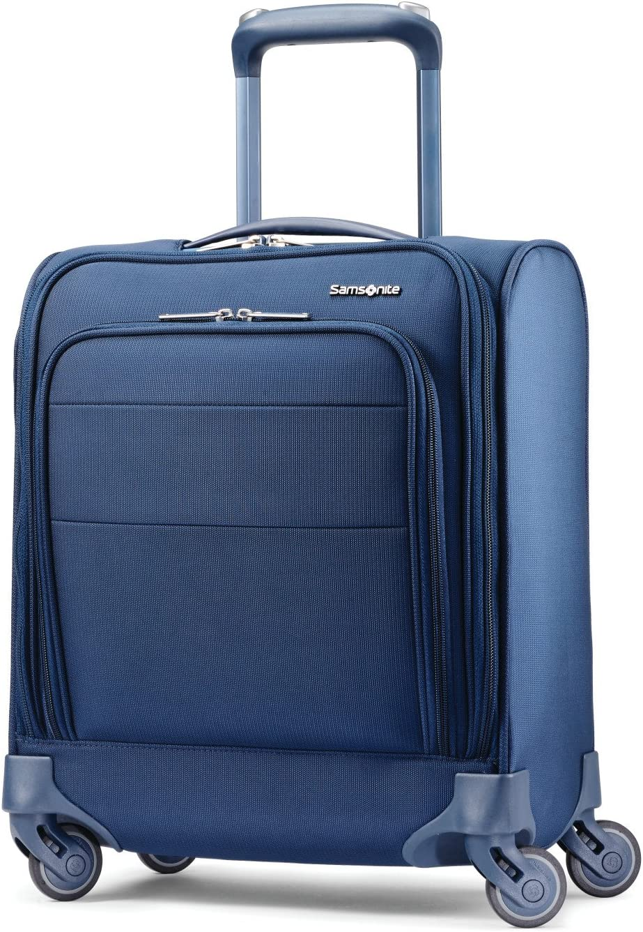 Samsonite Flexis Softside Expandable Luggage with Spinner Wheels, Carbon Blue, Underseater