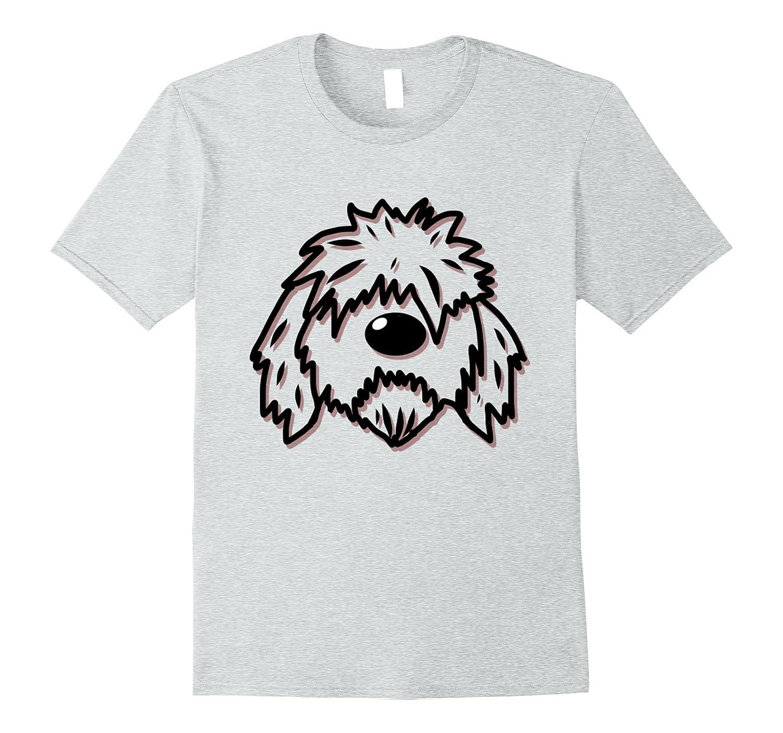 Rabid Doodle Designs Official Logo GoldenDoodle Dog T Shirt-FL