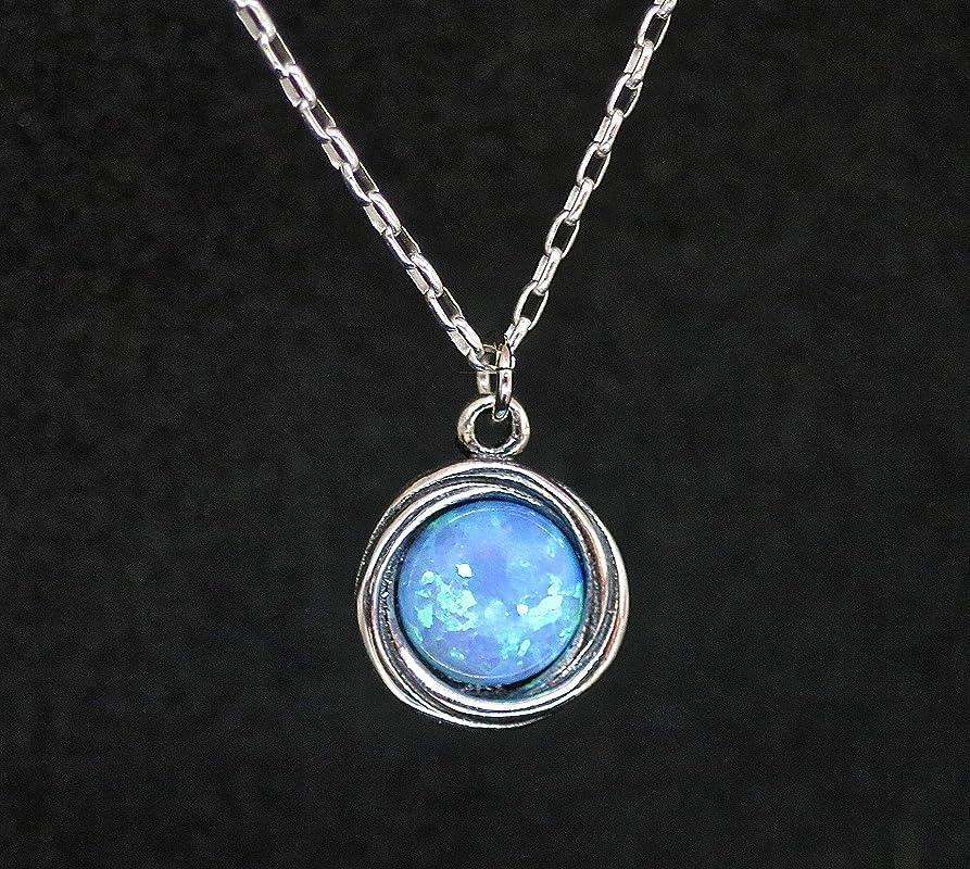 drop Welo opal minimalist dainty 925 silver clasp gemstone necklace Silk necklace with opal real opal