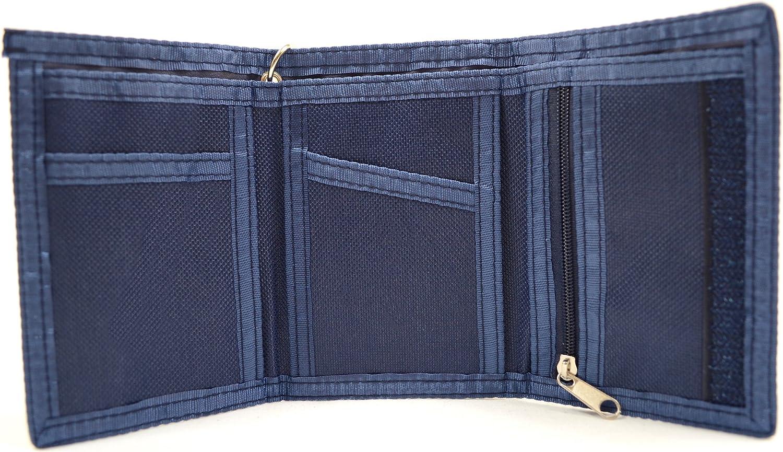 REDHIDE Portefeuille en toile avec clip ceinture pour homme//gar/çon//enfant