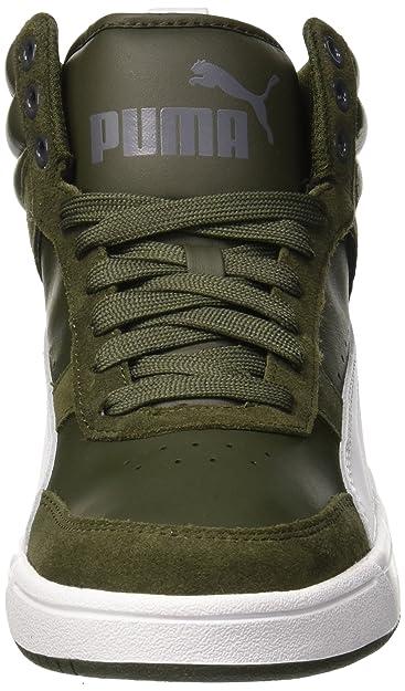 Puma Rebound Street V2, Sneaker a Collo Alto Unisex-Adulto, Grigio (Forest Night White-Iron Gate 09), 41 EU