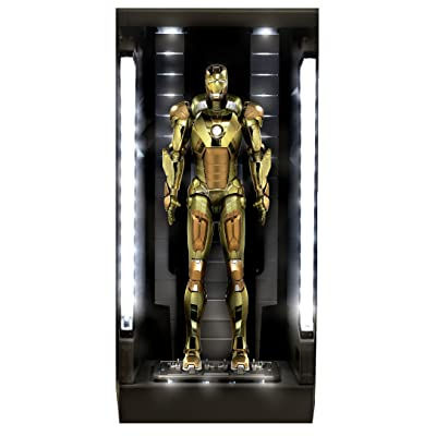 Dragon Models Iron Man 3 - Hall of Armor - Mark 21, Action Hero Vignette with Lighted Hall Building Kit (1/9 Scale): Toys & Games