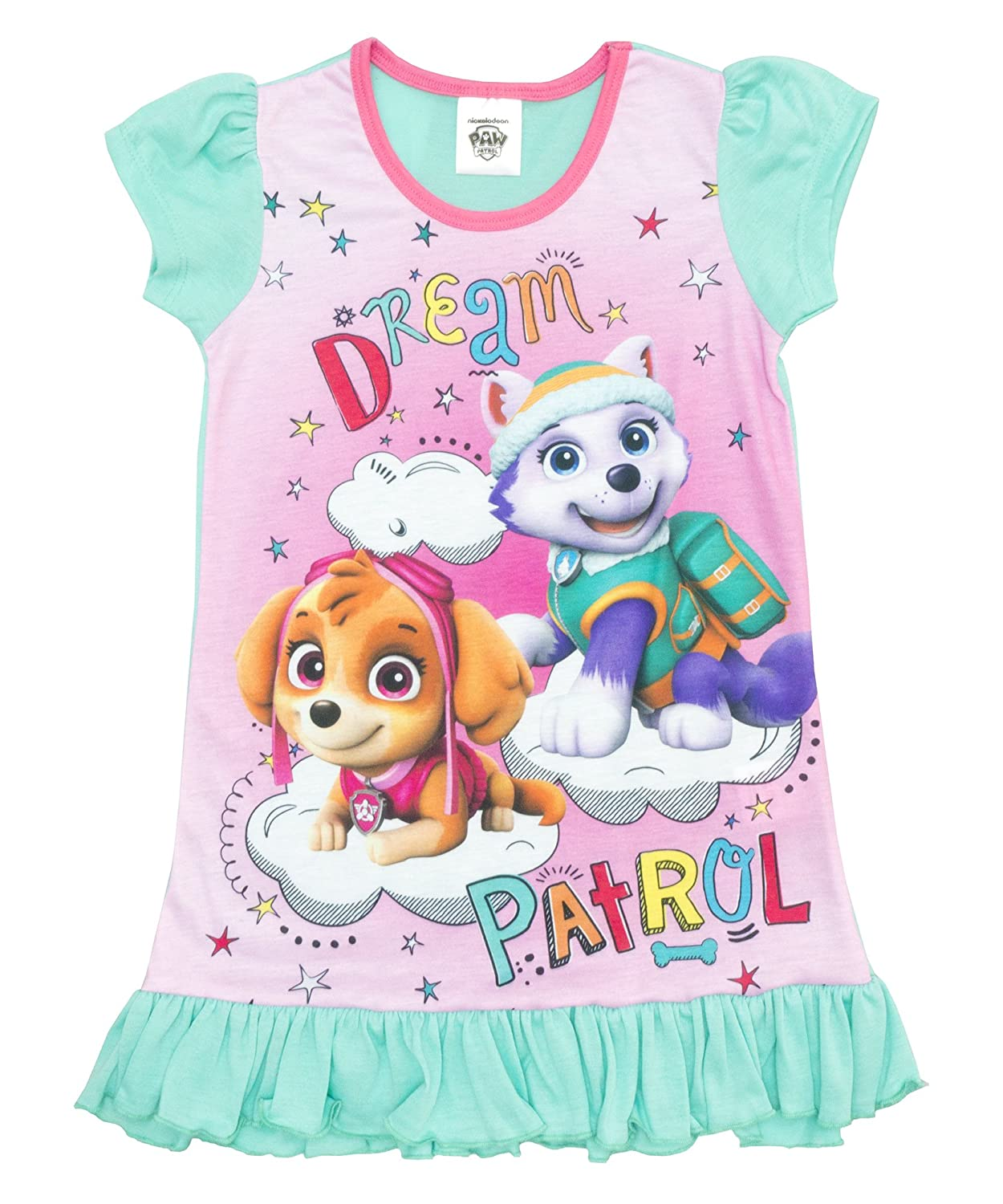 Cartoon Character Products Girls Paw Patrol Nightie - Skye and Everest Nightdress Ages 2 to 6 Years