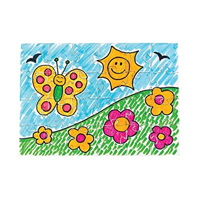 """Do It Yourself Puzzles-5"""" X 7"""" (24 Pc) - Crafts for Kids and Fun Home Activities: Toys & Games"""