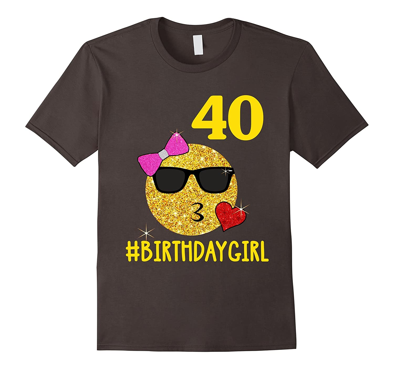 Emoji Kiss 40 Birthday Girl Years Old 40th Gift ANZ