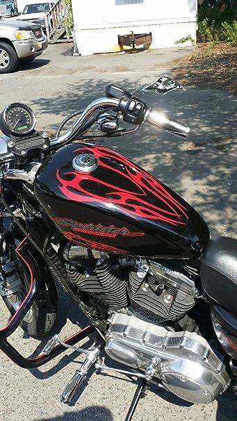 Met. Gold Biker custom decal Motorcycle Flame Tribal KIT