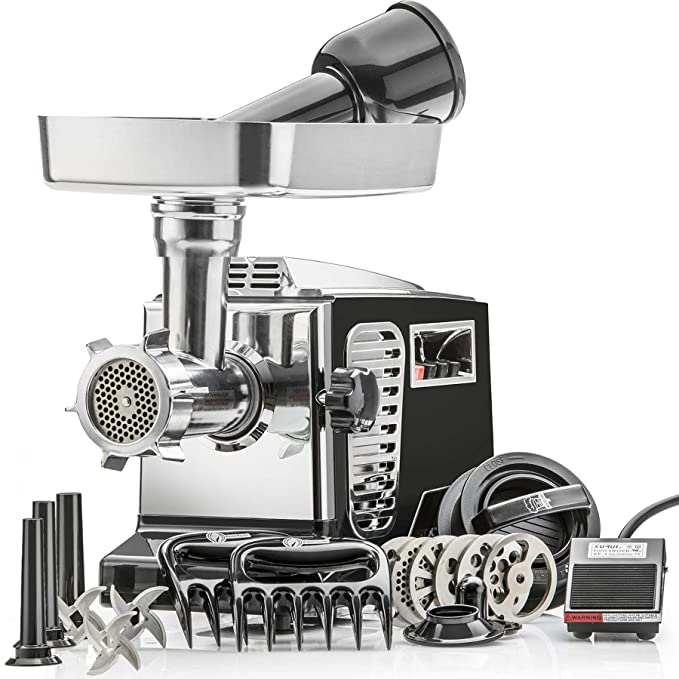 "STX Turboforce II""Platinum"" Meat Grinder & Sausage Stuffer – Best Electric Sausage Stuffer"