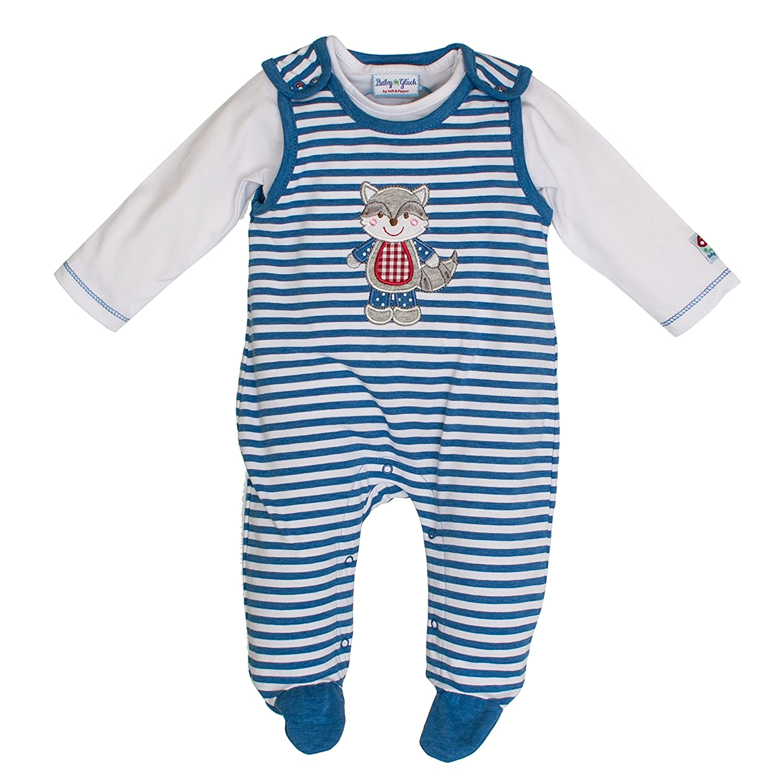 Salt & Pepper Baby Boys' Bg Playsuit Stripe Footies SALT AND PEPPER 83824127
