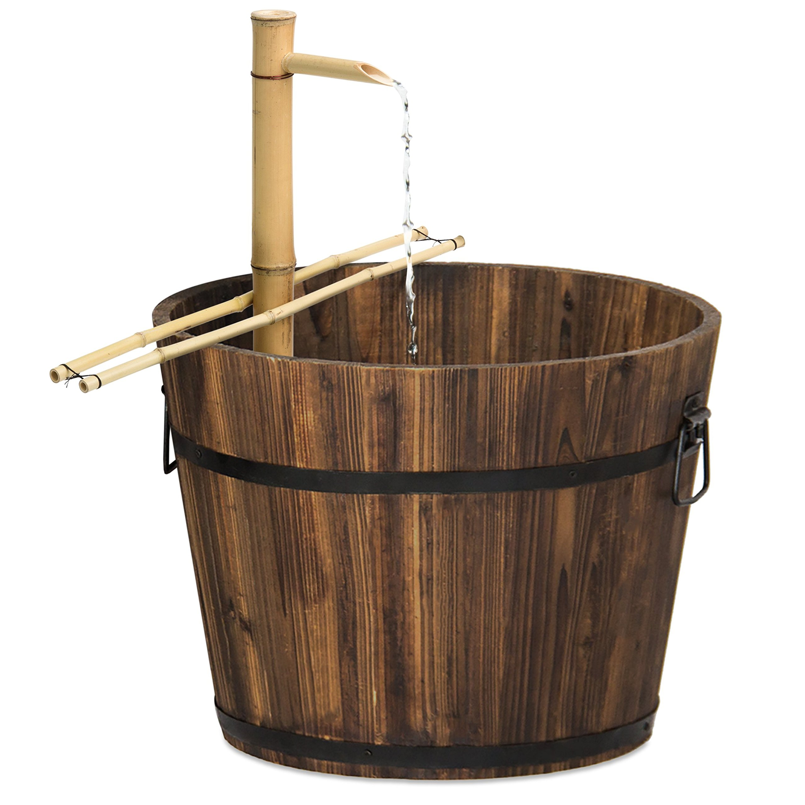 Best Choice Products Outdoor Bamboo Water Fountain Garden Decor w/Pump