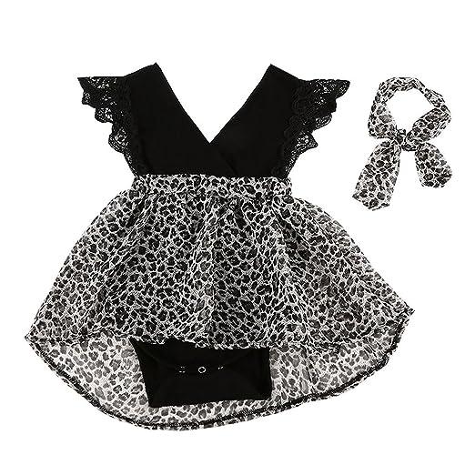 2b8bf96c557b Amazon.com  FIZUOXVE Infant Toddler Girls Spring Summer Sleeveless ...
