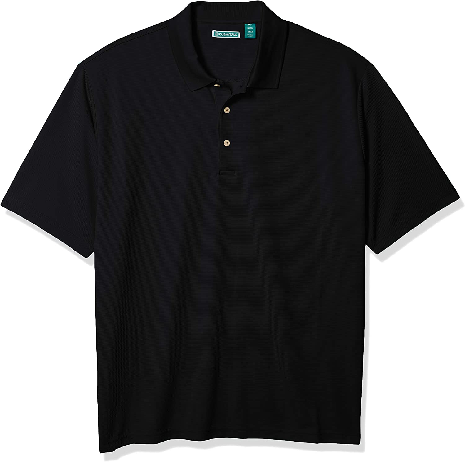 Cubavera Men's Big and Tall Essential Textured Performance Polo