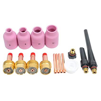 Soldadura TIG lente de gas grande Kit de accesorios cup-collet-gas lens-