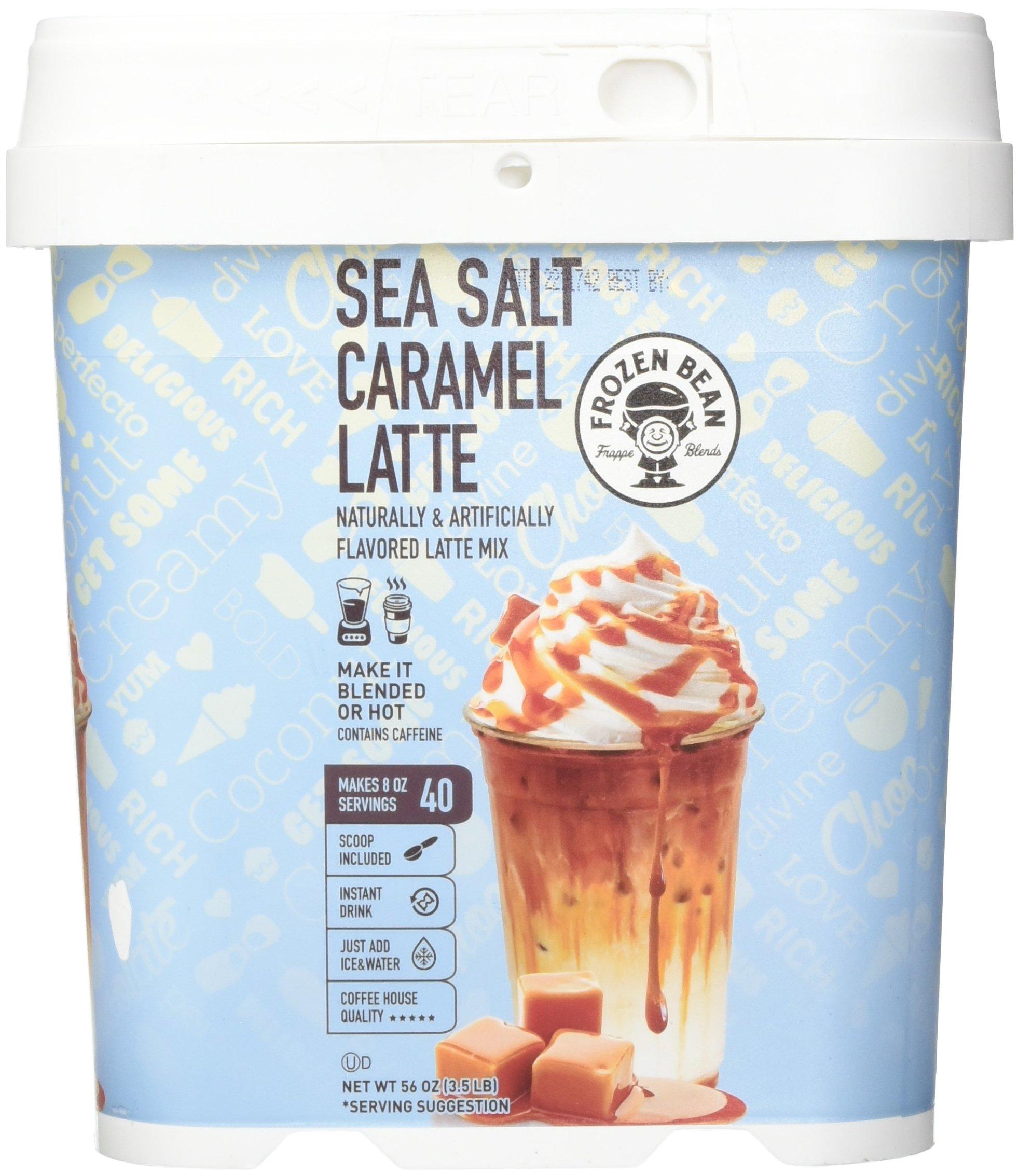 Frozen Bean Sea Salt Caramel Latte Frappe Mix Iced Coffee: Amazon.com : Gourmet Barista Mocha Cappuccino Mix (48 Oz