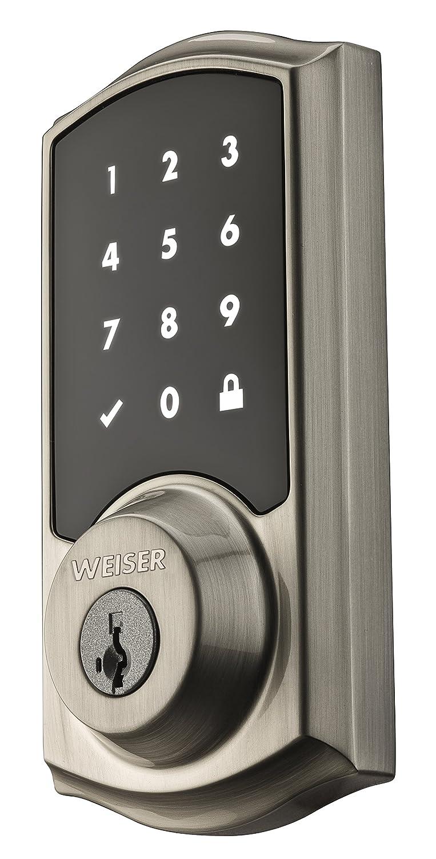 Venetian Bronze Keypad Door Lock 9GED17000-003 Weiser SmartCode 10 Electronic Deadbolt Featuring SmartKey