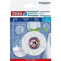 tesa Mounting Tape for Tiles & Metal, 1,5m x 19mm, wit