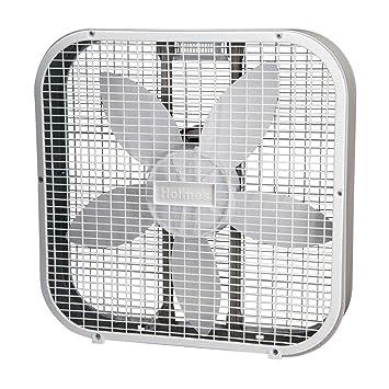holmes weather shield 20 inch metal box fan white a high efficient modern oscillating