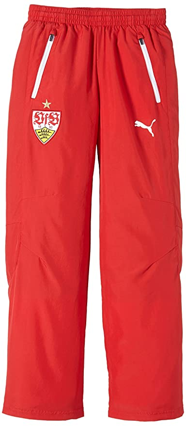 18826a772bf5d Puma - Pantalón deportivo del Vfb Stuttgart para niño rojo rojo blanco  Talla 164