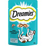 Dreamies Cat Treats with Salmon, 60 g - Pack of 8