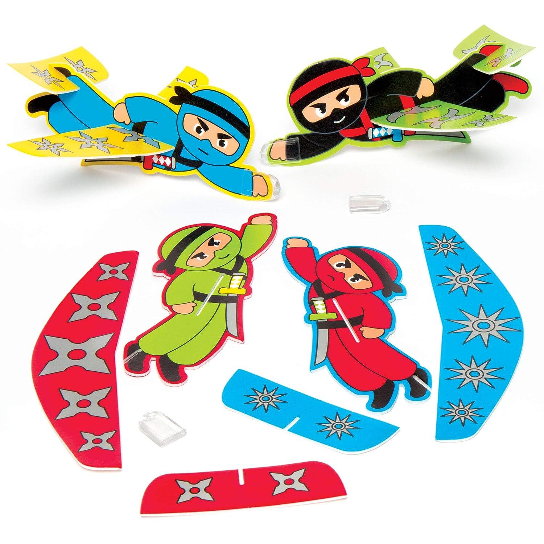 Baker Ross Planeadores de Ninjas para niños Bolsas Sorpresa ...