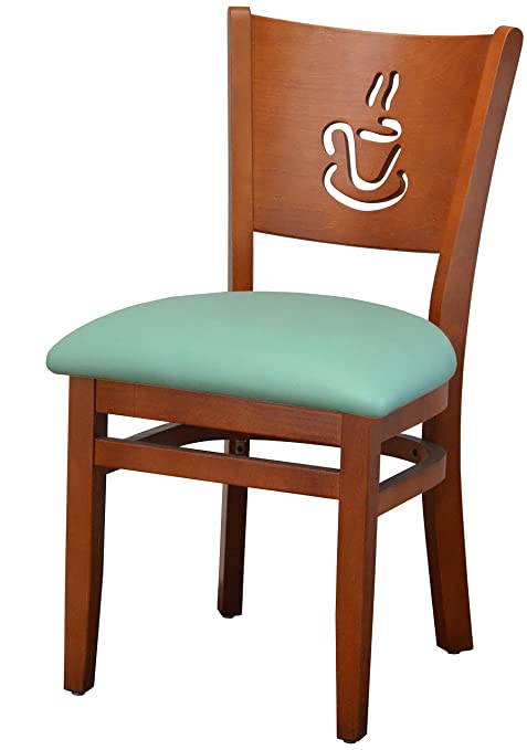 Amazon Com Classic Curved Back Solid Beech Wood Chair