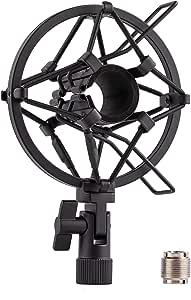 LYRCRO Universal Microphone Shock Mount for 22mm-28mm Diameter Condenser Mic
