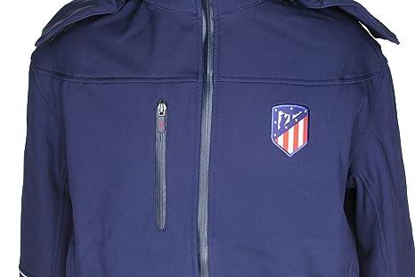 Atlético de Madrid Cazadora con Capucha Azul Marino ...