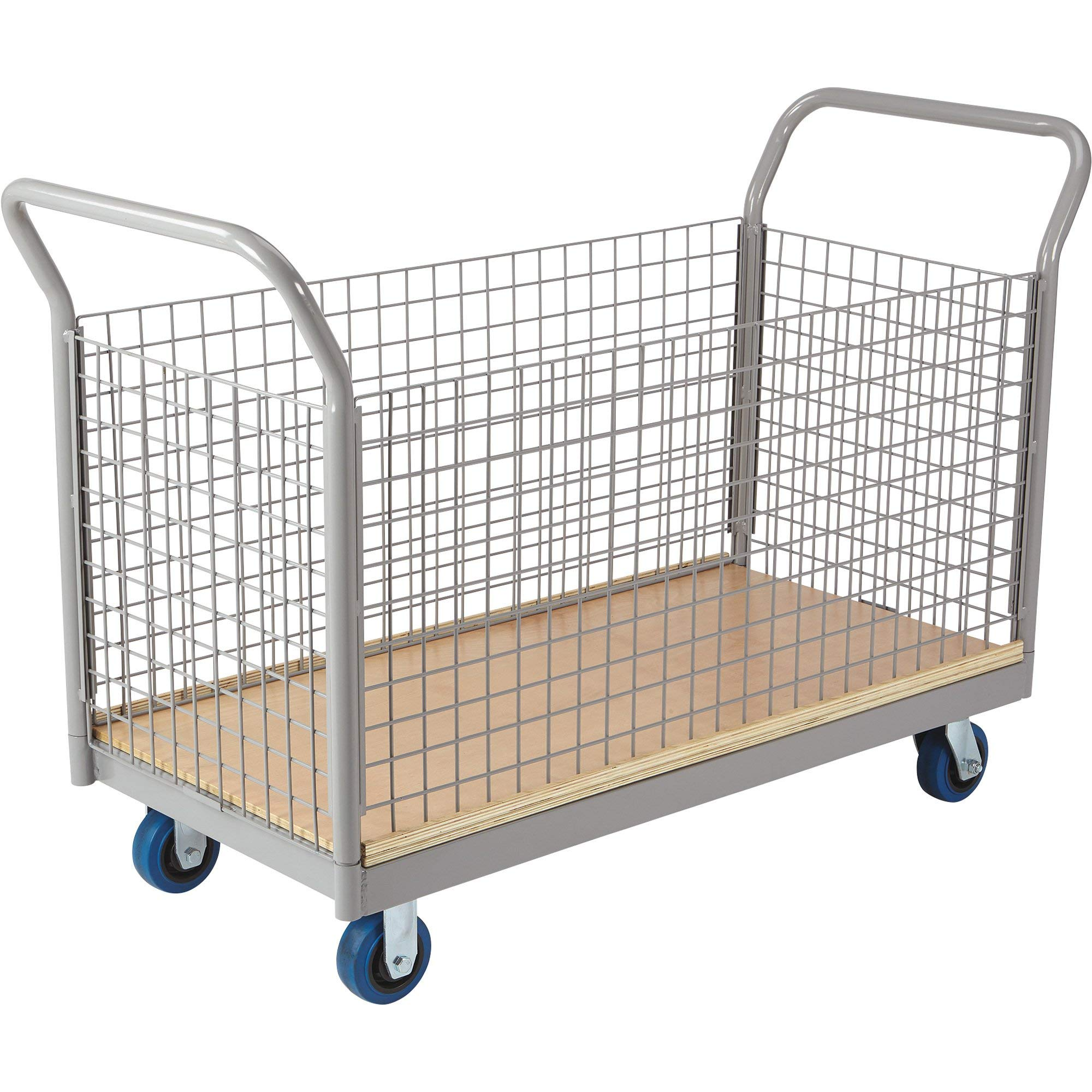Strongway Side-Panel Platform Cart - 2000-Lb. Capacity, 48in.L x 24in.W, 5in. Casters