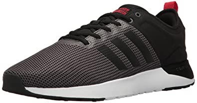 adidas NEO Men's Cloudfoam Super Racer Running Shoe, Dark Grey  Heather/Black/Light