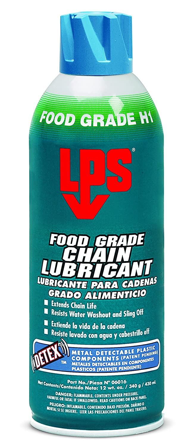 LPS-6016 Food Grade Chain Lubricant, 12 oz Aerosol (Pack of 12) - Clear/Colorless