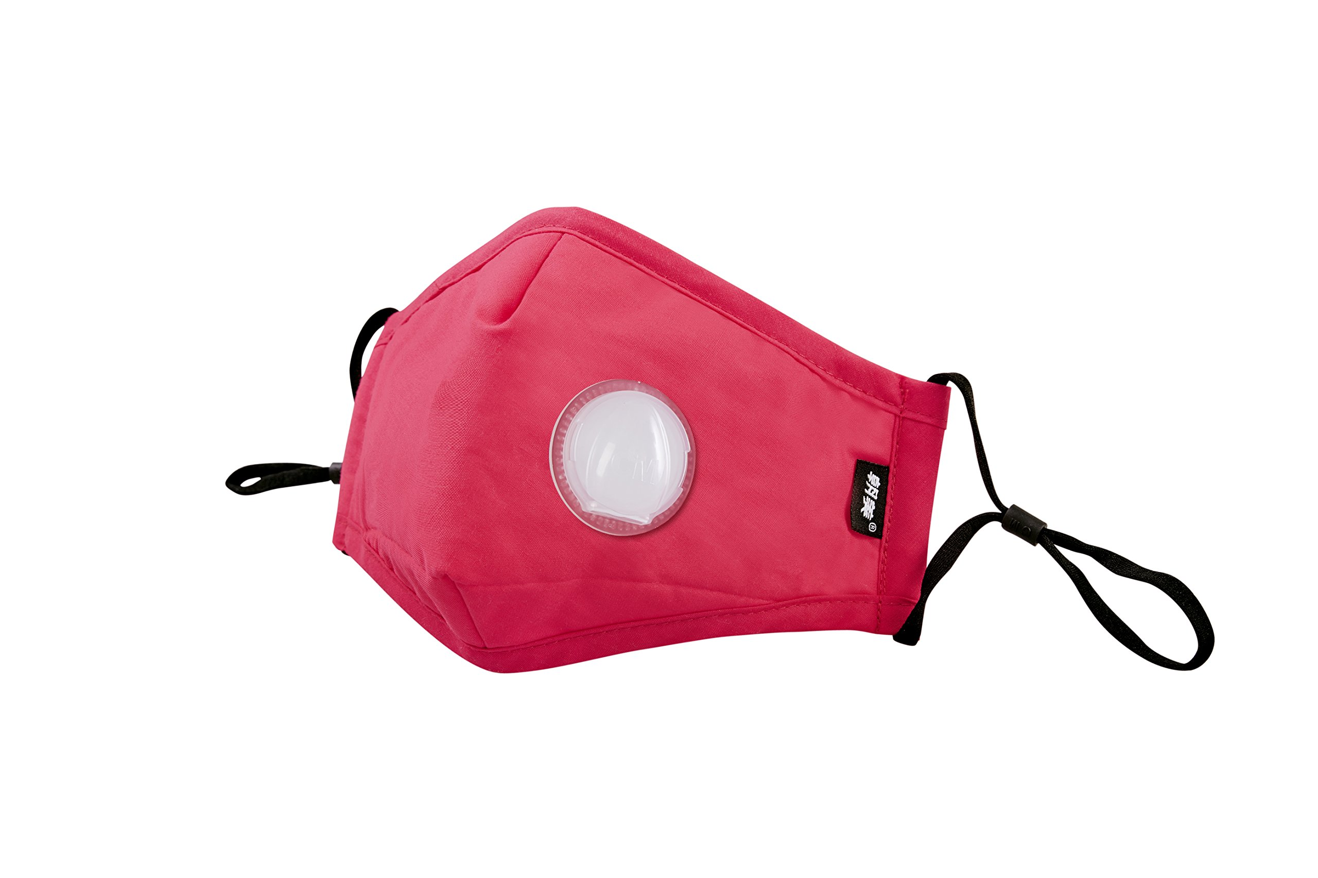 Dust mask,Non-toxic mask,Breathable mask(model:Y-2 Breather valve) (rose red)