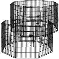 i.Pet 2X 36 8 Panel Pet Dog Playpen Puppy Exercise Cage Fence Rabbit Play Pen