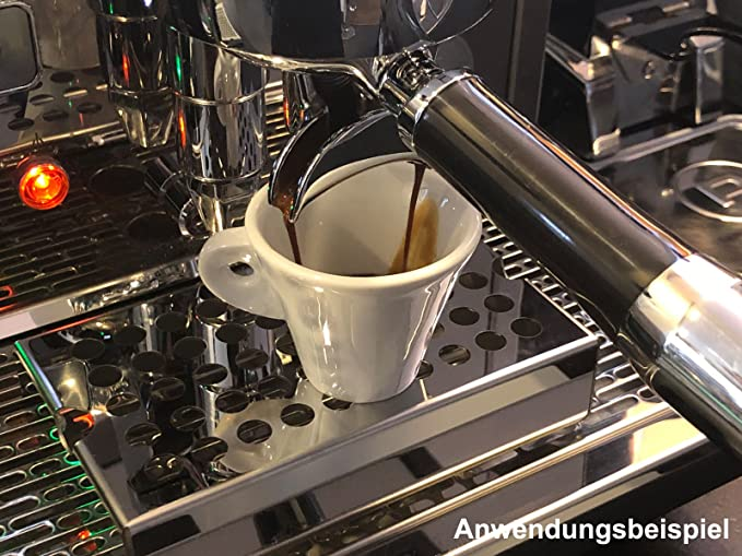 height: 20 mm Scarlet espresso cup raiser Alto made of stainless steel for portafilter machines Empore barista
