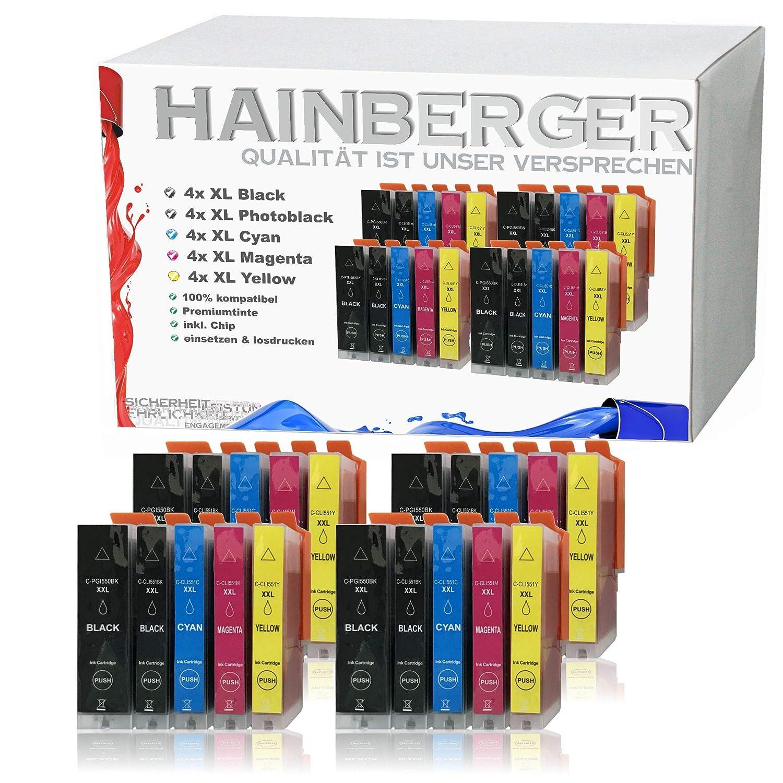 Hainberger - 20 Cartuchos XXL compatibles con Canon PGI-550 XL + ...