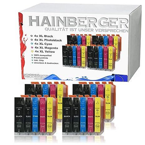 Hainberger - 20 Cartuchos XXL compatibles con Canon PGI-550 ...