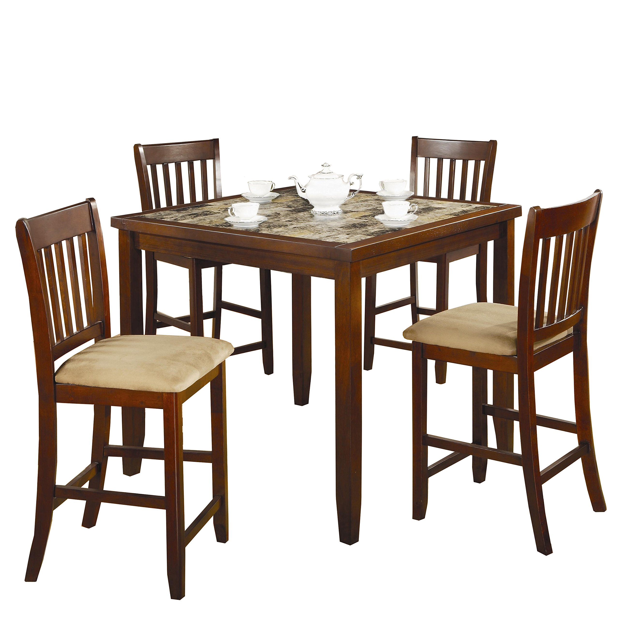 Coaster Normandie 5 Piece Counter Height Table Set