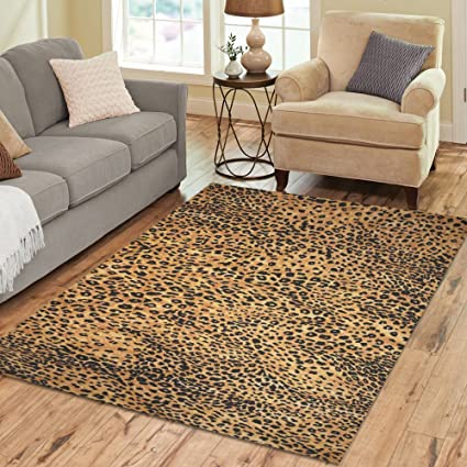 amazon com interestprint home decoration brown leopard print area