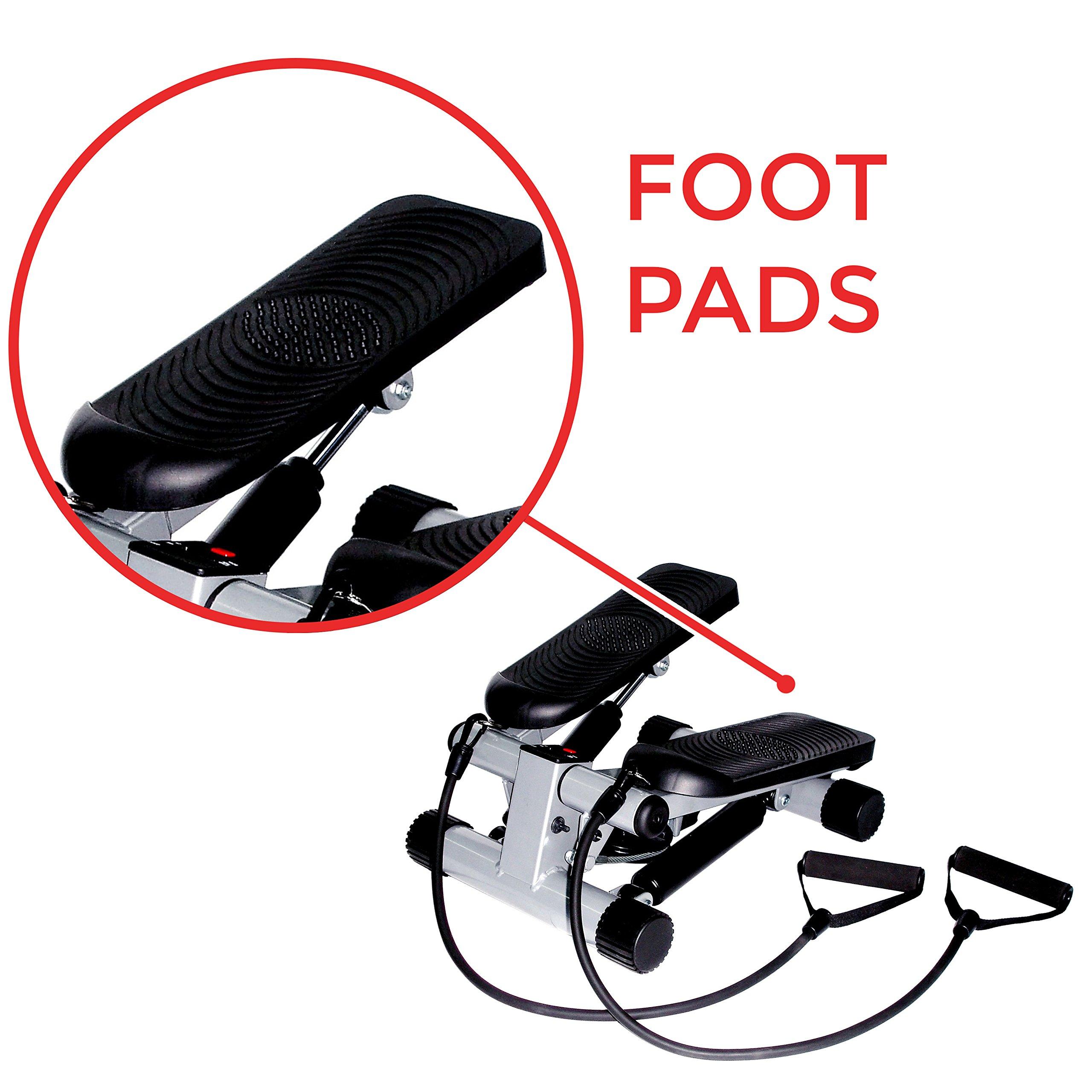 Sunny Health & Fitness Mini Stepper with Resistance Bands by Sunny Health & Fitness (Image #4)