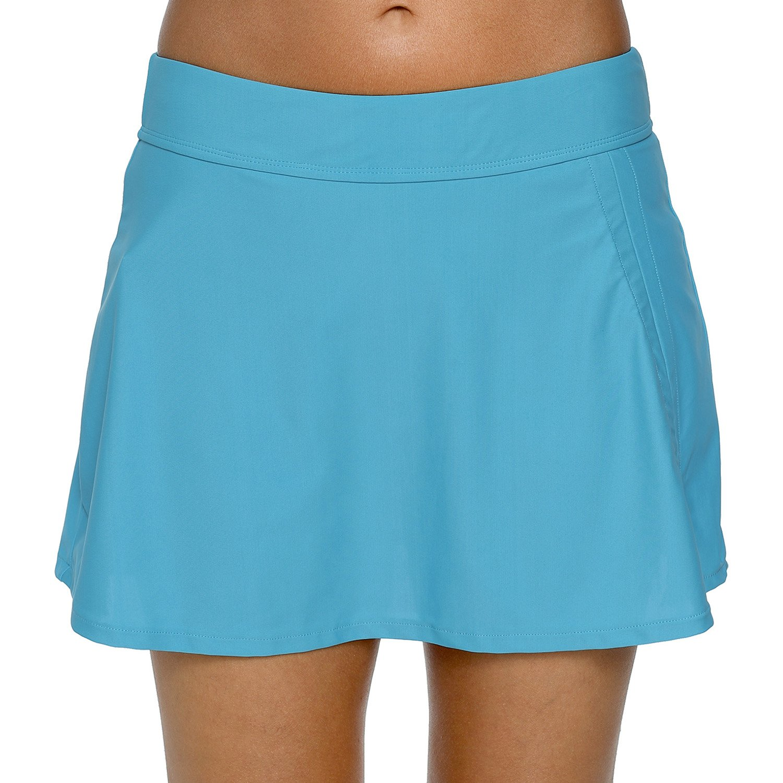 Charmo Womens Skirted Bikini Bottoms with Briefs Sports Beach Skirtini Swim Dresses Swimwear