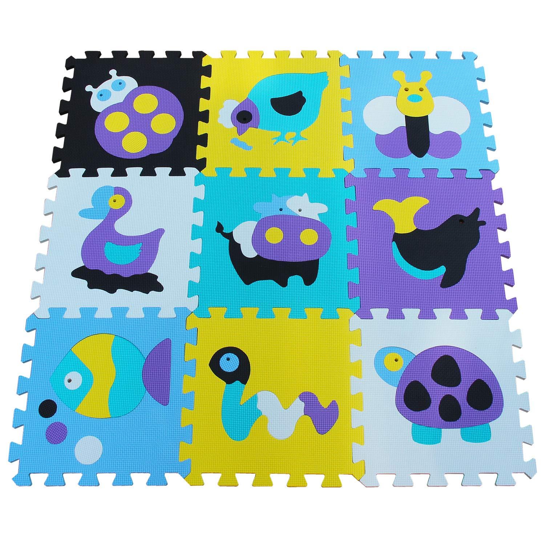 Details Sur Qqpp Eva Puzzle Tapis Mousse Bebe Ideal Pour Les 9pcs 30 1cm Qqp 15b9n