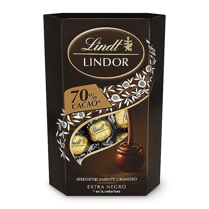 Lindt Lindor Bombones de Chocolate Negro 70% Cacao - Aprox. 16 ...