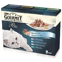 Purina Gourmet Perle Finas Láminas comida para gatos DUO del Mar en Salsa 8 x 85 g