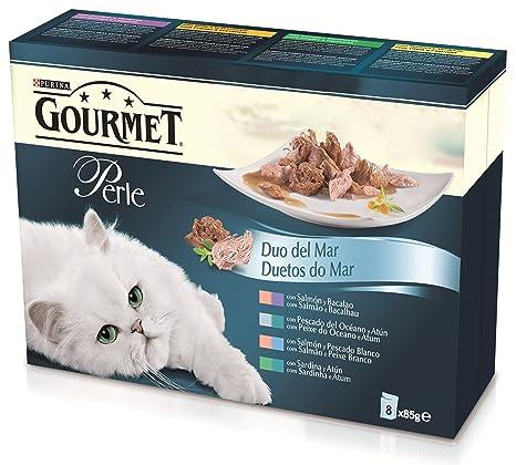 Purina Gourmet Perle Finas Láminas comida para gatos DUO del Mar en Salsa 8 x 85