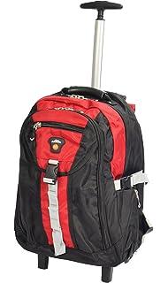 Cabin Bag Rucksack Backpack Hiking Trekking Camping Mountaineering Telescopic Handle And Wheels HL08 Black