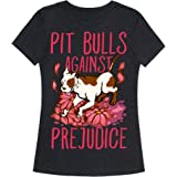 LookHUMAN Pit Bulls Against Prejudice Womens Fitted Triblend Tee