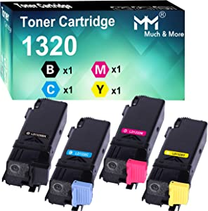MM MUCH & MORE Compatible Toner Cartridge Replacement for Dell 1320c 310-9058 310-9060 310-9062 310-9064 to use for Color Laser 1320c Printer High Yield (4-Pack, Black, Cyan, Magenta, Yellow)