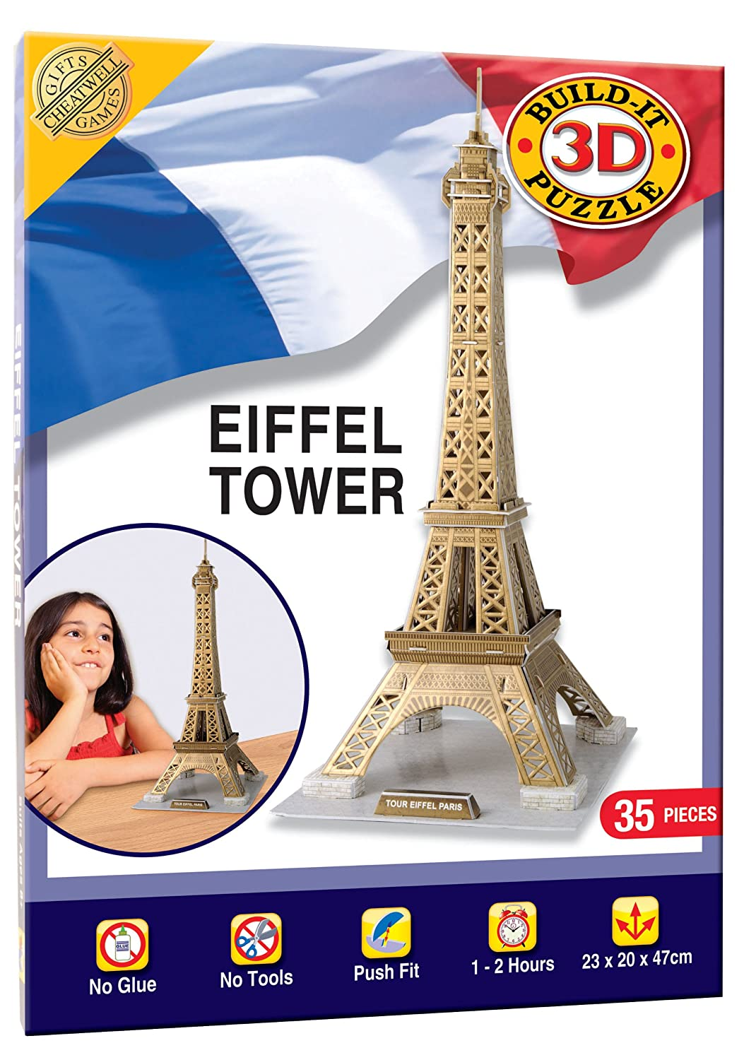 Cheatwell Games Eiffel Tower Build-Your-Own Giant 3D Kit: Amazon.co.uk:  Toys & Games